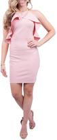 A Peach Pink Bodycon Dress