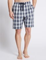 Marks and Spencer Pure Cotton Checked Pyjama Shorts
