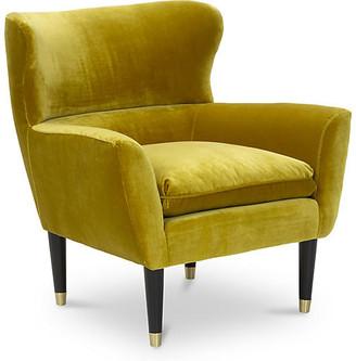 Kim Salmela Norah Chair - Citrine Velvet