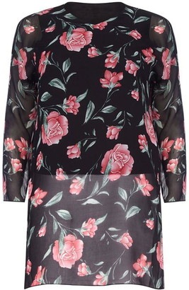 Yumi London Curve Floral Print Plus Size Tunic