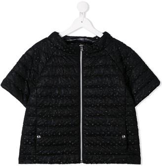 Herno TEEN glitter spot padded jacket