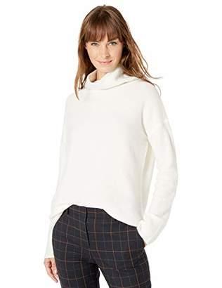 Lark & Ro Women's Boucle Turtleneck Oversized Sweater