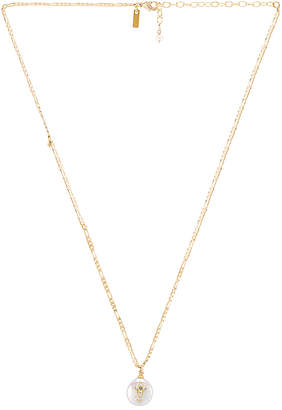 Natalie B Pearl of Love Cross Necklace