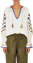 Ulla Johnson Women's Vania Embroidered Silk Blouse