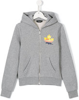 DSQUARED2 zip-up hoodie - kids - Cotton - 14 yrs