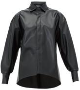 A.W.A.K.E. Mode Business Woman Faux-leather Shirt - Womens - Black
