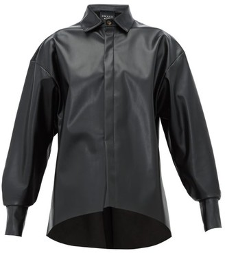 A.W.A.K.E. Mode Business Woman Faux-leather Shirt - Womens - Black