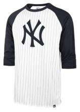 '47 New York Yankees Men's Pinstripe Throwback Raglan T-Shirt