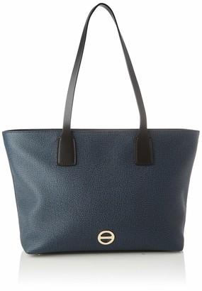 Borbonese Women's 904120F09 Shoulder Bag Blue Blue (BLU/NERO V02)