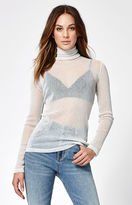 Motel Rocks Hazel Sheer Turtleneck Top