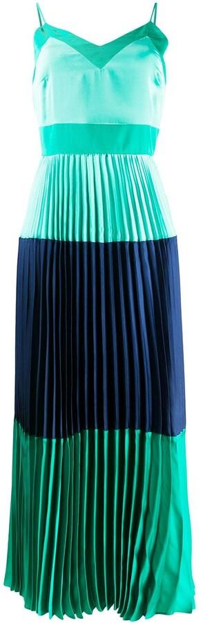 Twin-Set Pleated Colour Blocked Dress