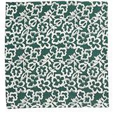 Barneys New York Men's Floral Woven Pocket Square-DARK GREEN