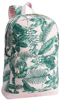 Pottery Barn Teen The Emily &amp Meritt Pink/Green Palms Backpack