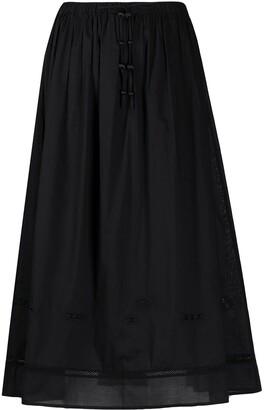 Tory Burch Tie-Waist Skirt