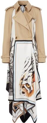 Burberry Animalia Print Twill Trench Coat