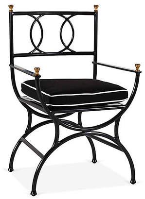 One Kings Lane Frances Bistro Chair - Black/White
