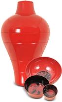 Ibride Red Ming Vase / Stackable Bowls