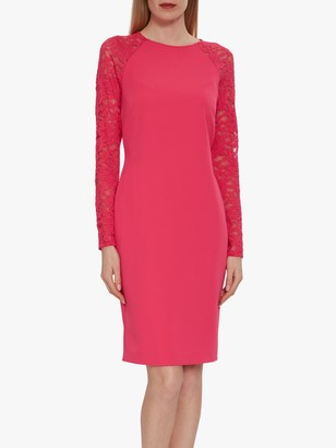 Gina Bacconi Tristine Lace Sleeve Dress