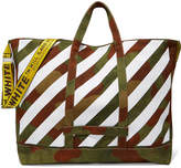 Off-White Printed Canvas Tote - Army green