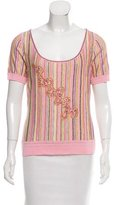 Escada Embellished Short Sleeve Top w/ Tags