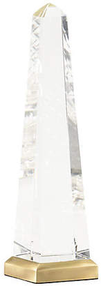 Chelsea House Crystal Obelisk - Clear/Brass