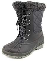 London Fog Swanley Women Round Toe Synthetic Black Winter Boot.