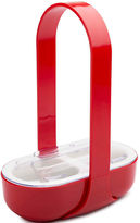 Zak Designs 2-Section Serving Caddy with Handle & Lid