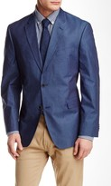Tommy Hilfiger Blue Woven Chambray Classic Fit Jacket