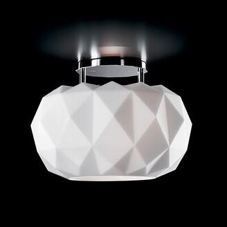 "Leucos Deluxe 1 - Light 13.78"" Unique/Statement Geometric Semi Flush Mount Shade Color: Matte Black, Bulb Type: Integrated LED"