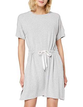Bench Women's BLWS000320 A-Line Crew Neck Short Sleeve Dress - Grey