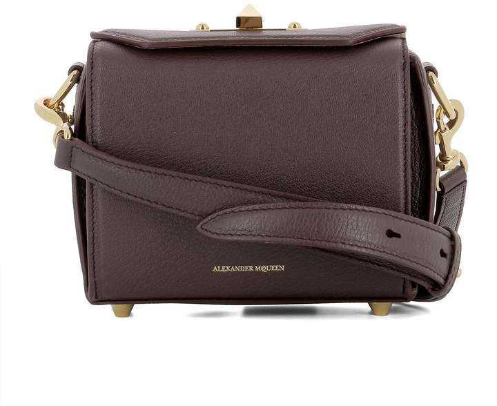 Alexander McQueen Purple Leather Shoulder Bag