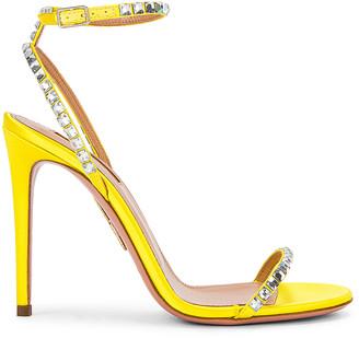 Aquazzura Very Vera 105 Sandal in Fluo Yellow | FWRD