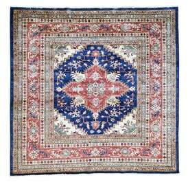 Blue Area Millwood Pines One-of-a-Kind Tillett Super Hand-Knotted Navy Rug Millwood Pines