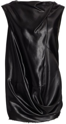 Rick Owens Draped Faux-Leather Top