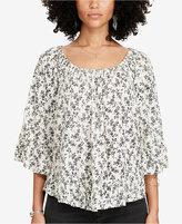 Denim & Supply Ralph Lauren Floral-Print Gauze Shirt