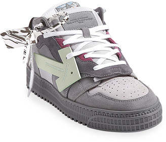 Off-White Men's Off Court Arrow Suede Sneakers