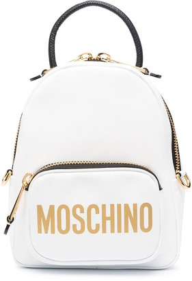 Moschino Mini Logo-Print Backpack