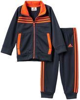 adidas Baby Boy Striped Jacket & Pants Set