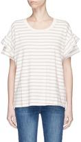 Current/Elliott 'The Ruffle Roadie' stripe T-shirt