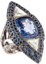 Loree Rodkin Sapphire & Diamond Cocktail Ring