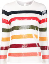 Carolina Herrera sequin striped jumper - women - Wool - M