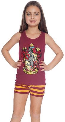 Intimo Girls' Sleep Bottoms - Harry Potter Red & Yellow 'Gryffindor' Pajama Set - Girls