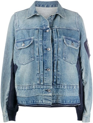 Sacai Relaxed-Fit Denim Jacket