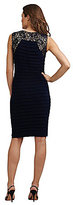 Adrianna Papell Banded Lace-Detail Dress
