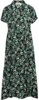 Marni Floral-print Crepe Midi Dress - Green