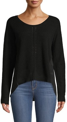Qi Cashmere Silk Combo High-Low Top