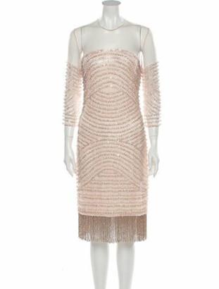 Naeem Khan 2018 Knee-Length Dress w/ Tags Pink