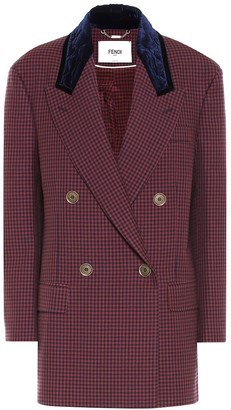 Fendi Checked virgin wool blazer
