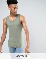 Asos TALL Muscle Tank In Green