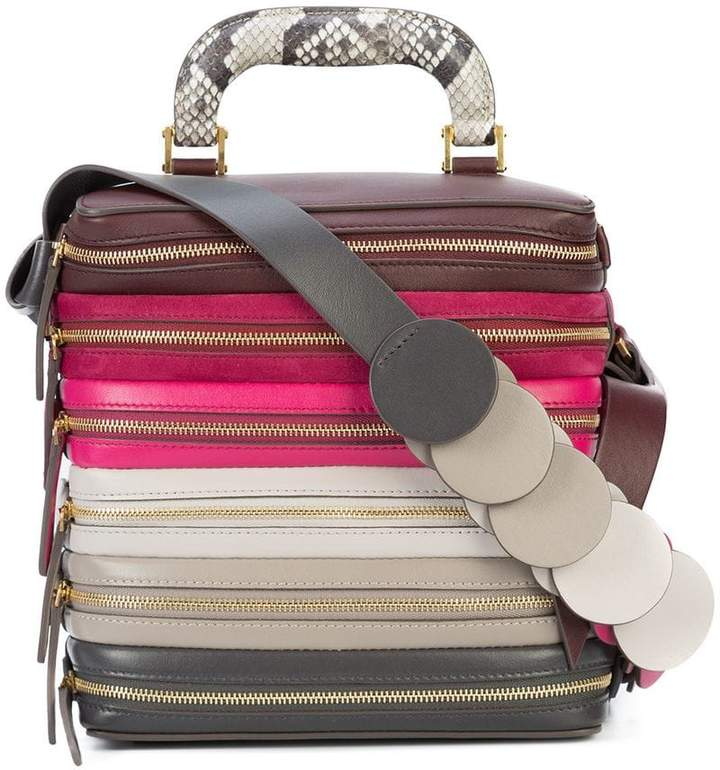 Anya Hindmarch multiple zip shoulder bag